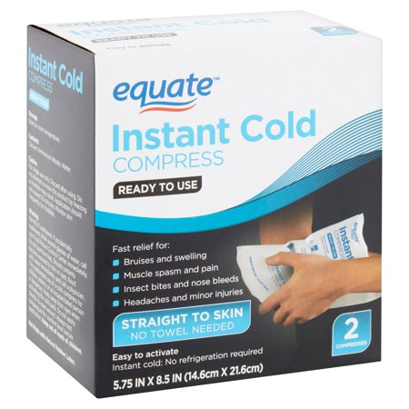 - Equate Instant Cold Compress, 2 count