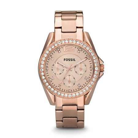 Fossil Women's Riley Multifunction Rose Gold Stainless Steel Watch (Style: ES2811P) (Fossil Watch Color)