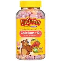 L'il Critters Calcium + Vitamin D3 Gummies, Fruit, 150 Ct