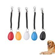 5PCS Color Pet Training Clicker Big Button Set with Wrist Strap for Dog Cat Horse