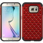 Samsung Galaxy S6 Edge Case, by Insten Dual Layer [Shock Absorbing] Hybrid Hard