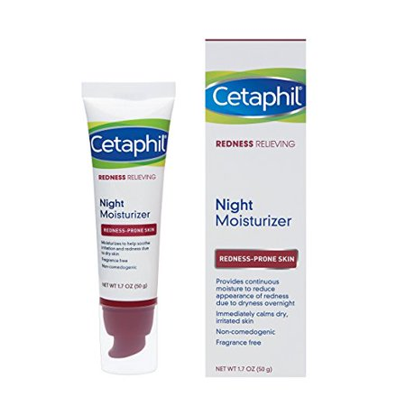 Anti Redness Treatment (Cetaphil Redness Relieving Night Moisturizer, For Redness Prone Skin, 1.7 Fl)