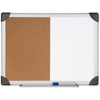 "Lorell Dry Erase/Cork Combination Board, 18"" x 24"", Aluminum Frame"
