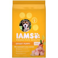 IAMS PROACTIVE HEALTH Smart Puppy Dry Dog Food Chicken, 15 lb. Bag