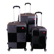 a0993782afd BIGLAND 3 Pcs ABS Luggage Set Hard Suitcase Spinner Set Travel Bag Trolley  Wheels Coded Lock