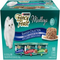 Fancy Feast Medleys Seafood Collection Cat Food 18-3 oz. Cans