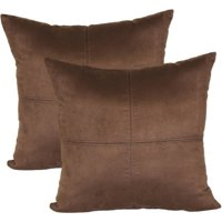 """Mainstays 4-Panel Suede Decorative Throw Pillow, 17"""" x 17"""", Blue, 2 Pack"""