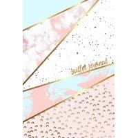 Bullet Journal: Marble + Gold Designer Bullet Journal Dot Grid Journal (Paperback)