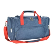 DALIX Signature Travel or Gym Duffle Bag in Navy Blue and Red