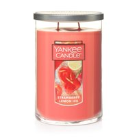 Yankee Candle Large 2-Wick Tumbler Scented Candle, Strawberry Lemon Ice