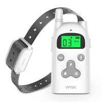 Shock Collar for Dogs, Vinsic Waterproof Receiver 300 Meters Remote Control with Cartoon Design Back Splint and a Flashlight Dog Shock Collar with LCD Display 1-5 Level Shock and Vibration