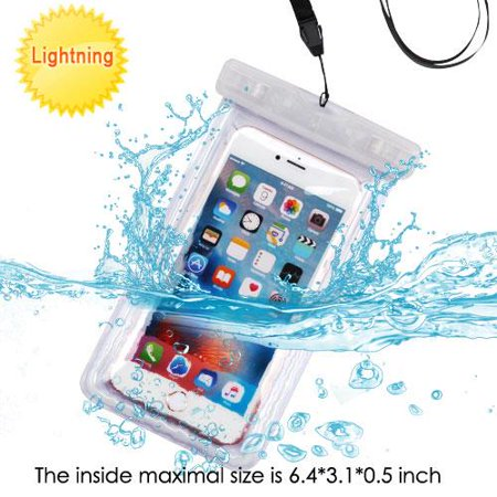 Waterproof Sports Swimming Lightning Case Bag Pouch (with Lanyard) for BlackBerry KEYone, Motion, DTEK70, Mercury, DTEK60, Priv, Q10, Z10, Passport, Z30, Bold 9900, Classic (T-Clear) + MND Mini Stylus