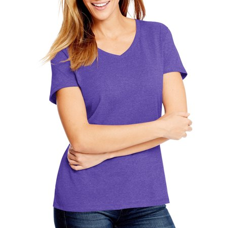 Women's X-Temp with Fresh IQ Short Sleeve V-neck (Hanes Women T-shirts)