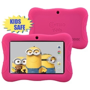 """Contixo 7"""" Kids Tablet K3   Android 6.0 Bluetooth WiFi Camera for Children Infant Toddlers Kids Parental Control w/Kid-Proof Protective Case (Pink)"""