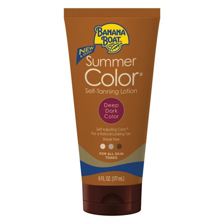 Banana Boat Summer Color Self-Tanning Lotion, Deep/Dark, 6 (Tanning Shimmer)