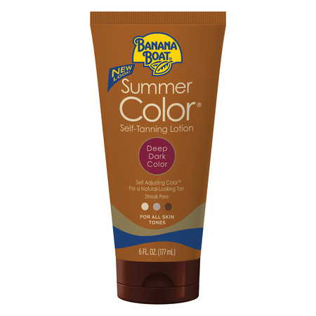 Banana Boat Summer Color Self-Tanning Lotion, Deep/Dark, 6