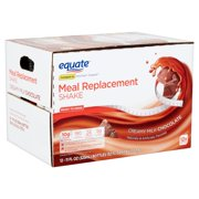 Equate Meal Replacement Shake, Creamy Milk Chocolate, 11 fl oz, 12 Count