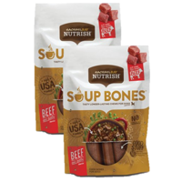 (2 Pack) Rachael Ray Nutrish Soup Bones Dog Treats, Beef & Barley Flavor, 6.3oz