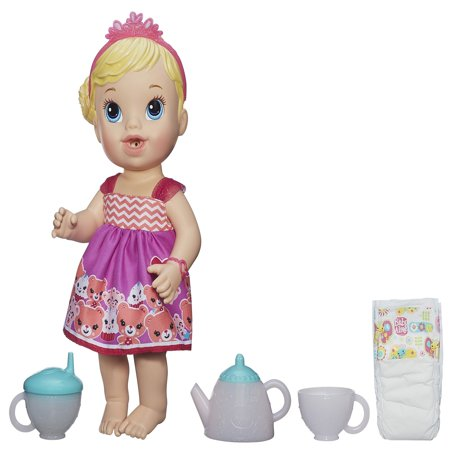 Baby Alive Lil' Sips Baby Has a Tea Party Doll - Blonde Hair (Doll Tea)