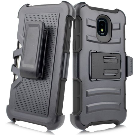 For Samsung Galaxy J3 2018/ J3 Achieve/ J3 Star/ Amp Prime 3/ Express Prime 3/ J3V 3rd Gen. /J337 Image Case Phone Case Clip Holster 2 Kickstands Hybrid Shockproof Bumper Cover
