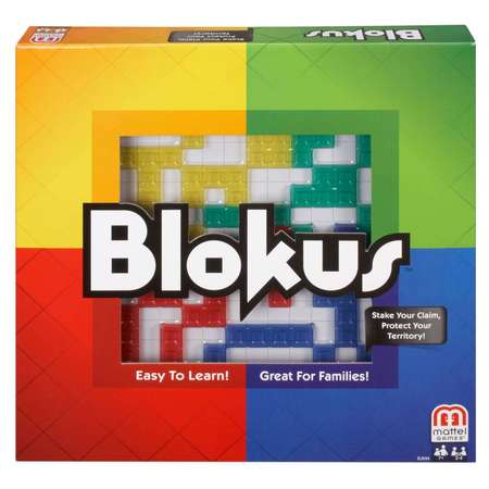 Mattel Blokus Family Fun Game for 2-4 Players Ages 7Y+ - Games For Christmas