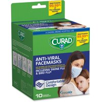 Curad Universal Surgical Facemasks, 10 Ct