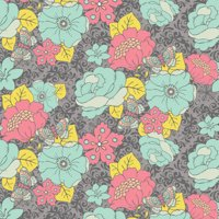 100% Cotton Fabric For Quilting And Crafting By Emma And Mila From The Grecian Collection: Garden