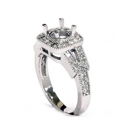 1/2ct Diamond Semi Mount Antique Engagement