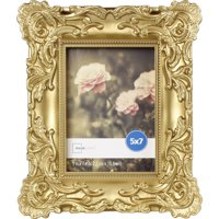Mainstays 5x7 Baroque Picture Frame, Gold