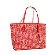25413a71d12c24 MICHAEL Michael Kors Women's Jet Set Travel LARGE Leather Carry All Tote  Handbag