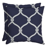Better Homes and Gardens Outdoor Patio Square Toss Pillow, Set of Two