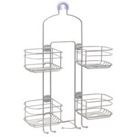 Better Homes & Gardens Expandable Hose Shower Caddy, Satin Nickel