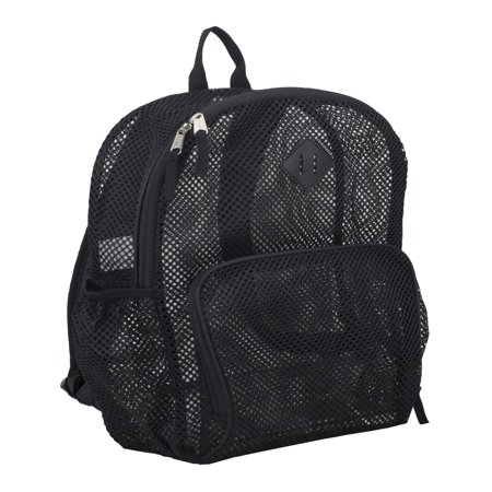 Eastsport Multi-Purpose Mesh Backpack with Front Pocket, Adjustable Straps and Lash Tab Black Moon Fishing Backpack