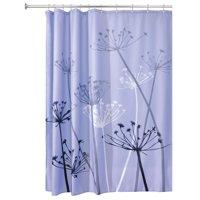"InterDesign Thistle Fabric Shower Curtain, Standard 72"" x 72"", Gray/Purple"
