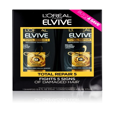 L'Oreal Paris Total Repair 5 Shampoo and Conditioner Value (Free Samples Shampoo Conditioner)