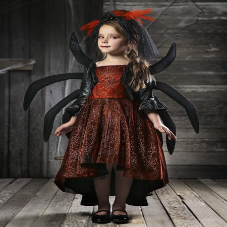 Girl's Spooky Widow Dress Costume for $<!---->