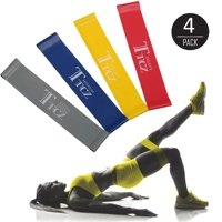 EEEKit 4 Pcs Exercise Resistance Loop Bands, Workout Yoga Bands, for Stretching Training, Physical Therapy and Home Fitness