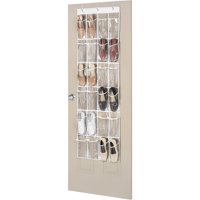 Whitmor 24 Pocket Over the Door Shoe Organizer - Clear