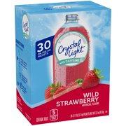 Crystal Light On The Go with Caffeine Wild Strawberry Drink Mix 3.3 oz Box