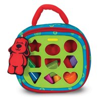 Melissa & Doug K's Kids Take-Along Shape Sorter Baby Toy With 2-Sided Activity Bag and 9 Textured Shape Blocks