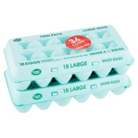 Great Value Large White Eggs Value Pack, 36 count, 36 oz