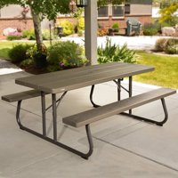 Lifetime 6 Foot Picnic Table, Brown, 60105