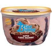 Blue Bunny Super Fudge Brownie Premium Ice Cream 46 Fl Oz