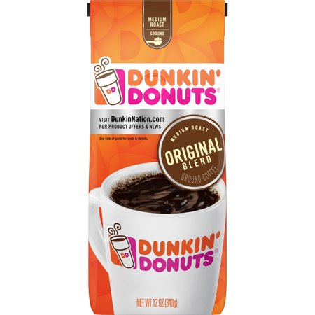Blended Ground Coffee (Dunkin' Donuts Original Blend Ground Coffee, Medium Roast, 12-Ounce)