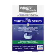 Equate Beauty Ultra Teeth Whitening Strips, 10 Treatments (Compare to Crest 3D White No Slip Whitestrips Classic Vivid)