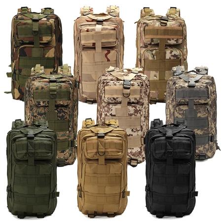 1000D Nylon 8 Colors 30L Waterproof Outdoor Military Rucksacks Tactical Backpack Sports Camping Hiking Trekking Fishing Hunting Bag ()