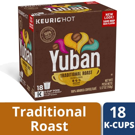 Yuban Gold Original Medium Roast Coffee K-Cup, 5.57 oz Box (18
