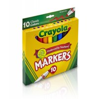 Crayola Broad Line Markers, Classic Colors, School Supplies, 10 Count