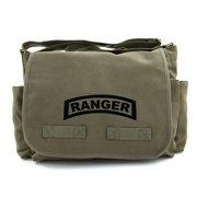 United States Army Military Ranger Symbol Text Canvas Messenger Shoulder Bag 6fe811ef59b