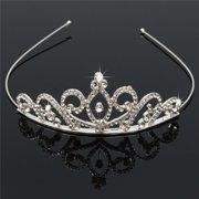 Princess Austrian Bridal Crystal Wedding Hair Tiara Crown Prom Veil Headband 2152805c6e60